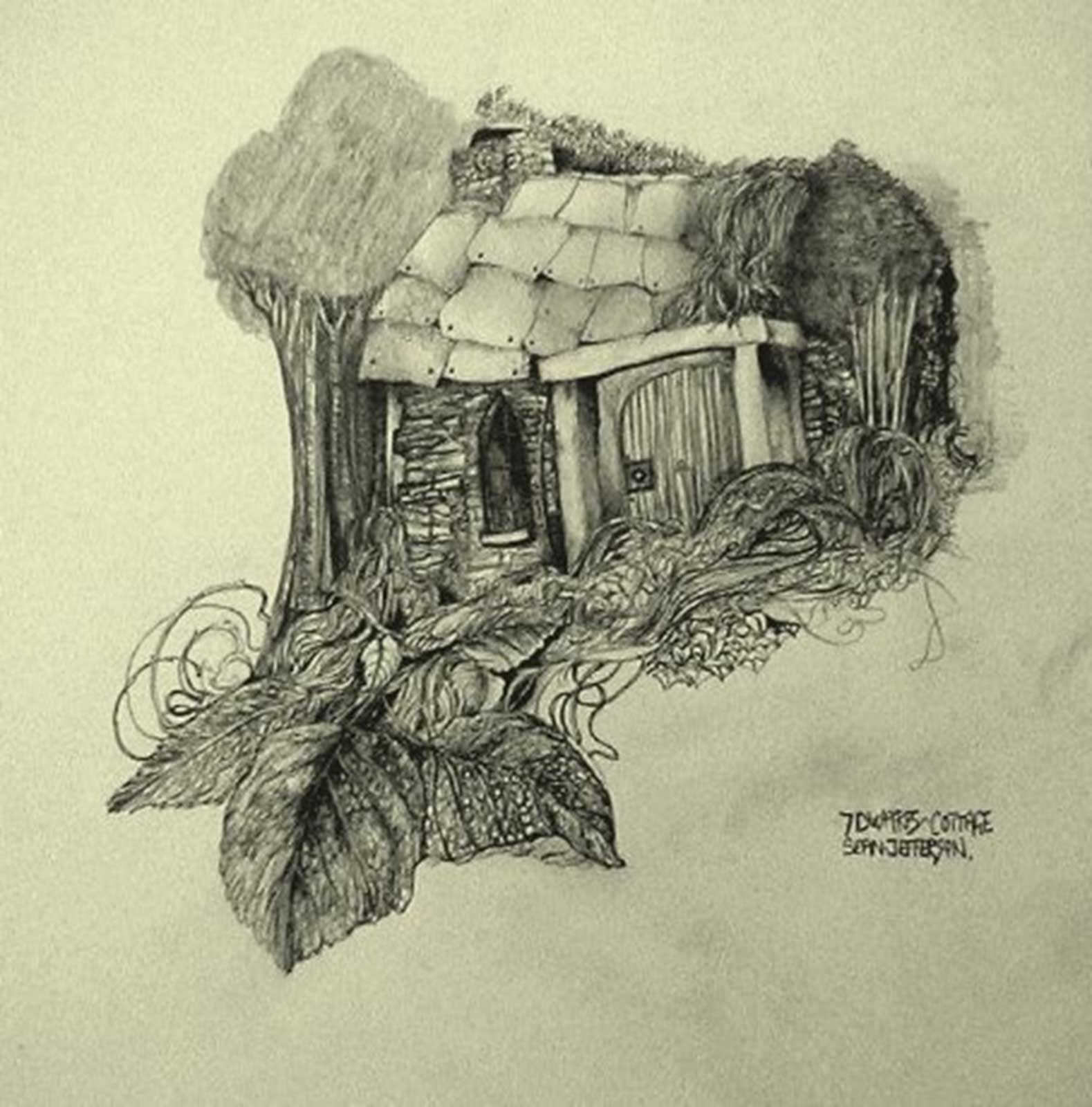 Talusman Fine Art Sean Jefferson - 'Severn Dwarfs Cottage'