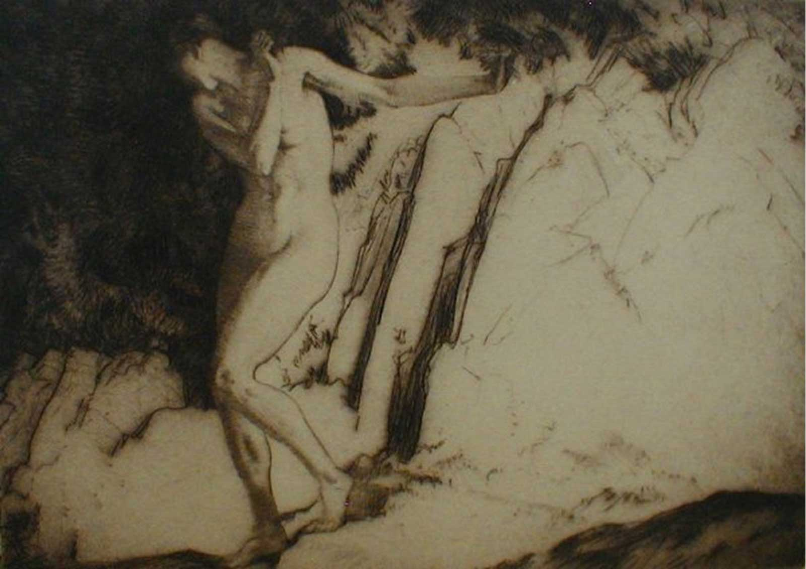 Talusman Fine Art William Russell Flint - 'Eve' - Drypoint Etching