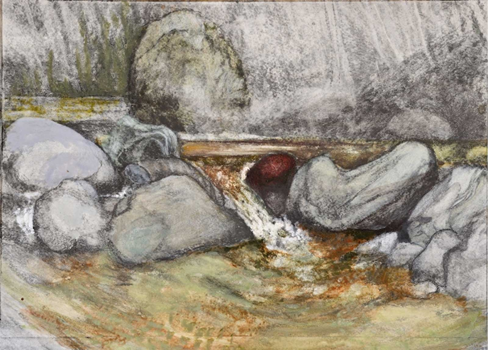 Talusman Fine Art Michael Chaitow - 'Mountain Stream'