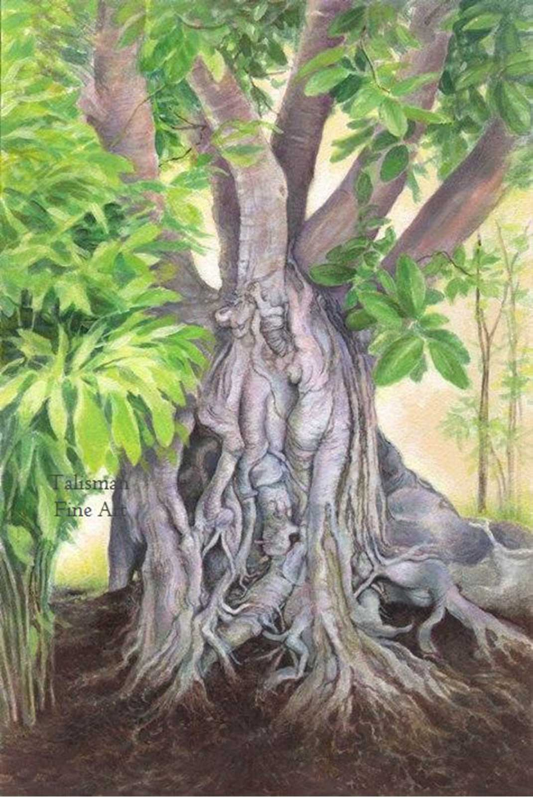 Talusman Fine Art Lynn Paula Russell - Banyan (We have a full selection of her works on this website)
