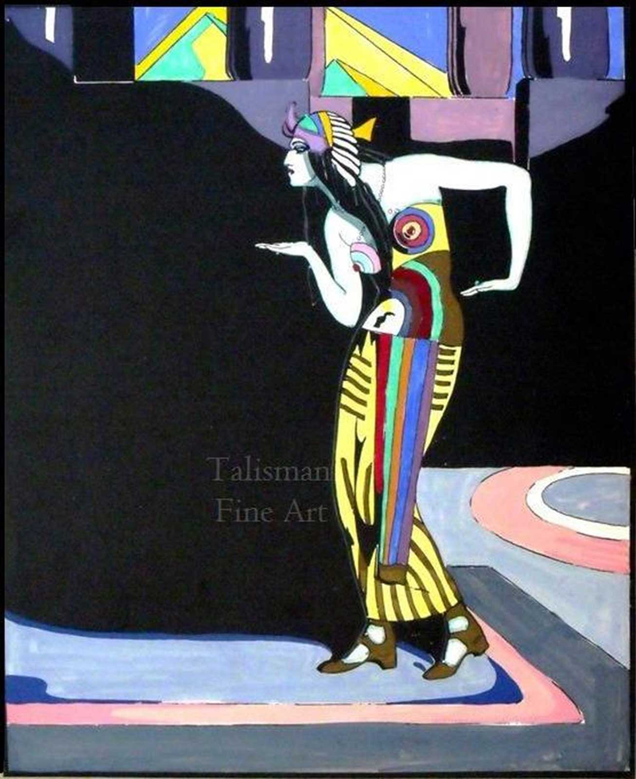 Talusman Fine Art Vera Willoughby - Lubov Tchernicheva dancing Cleopatra (We have more works by Vera Willoughby)  Sold