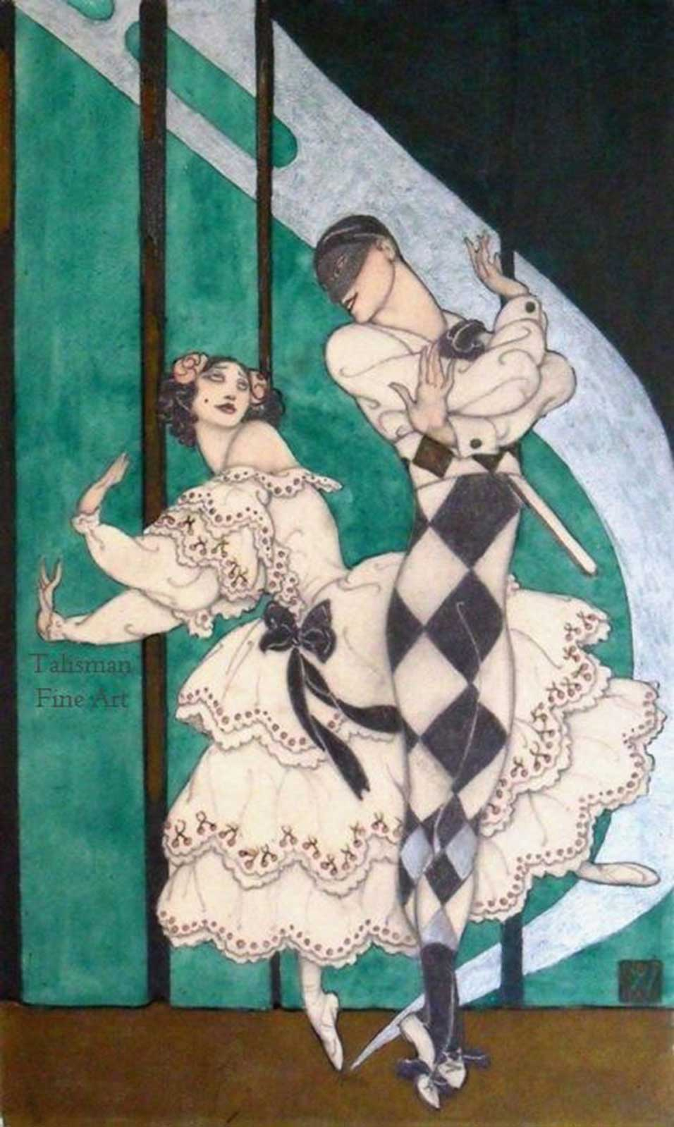 Talusman Fine Art Vera Willoughby - A ballet scene with two dancers