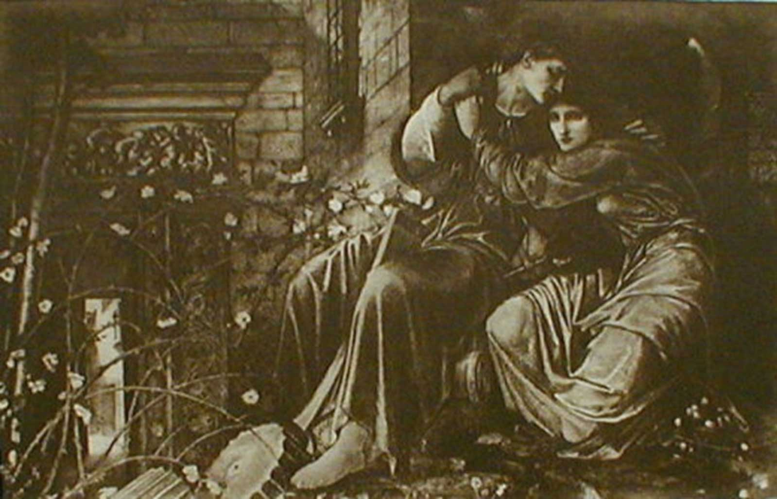 Talusman Fine Art After Sir Edward Coley Burne-Jones - 'Love Among the Ruins' C.1892 Photogravure