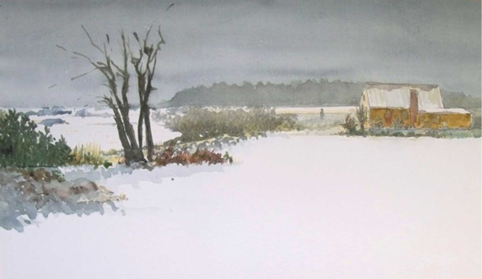 Talusman Fine Art Jane Wisner - 'The Snow'