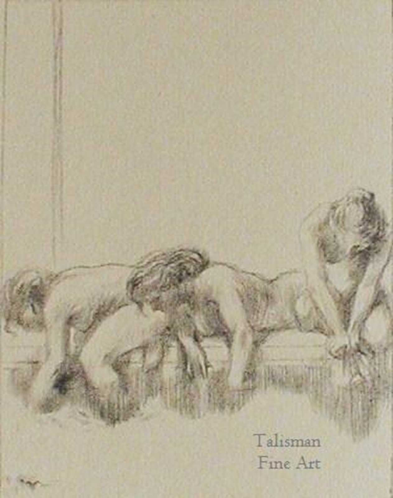 Talusman Fine Art Charles Haslewood Shannon lithograph - 'Repeated Bend' 1892. (We have more work by Shannon on this w