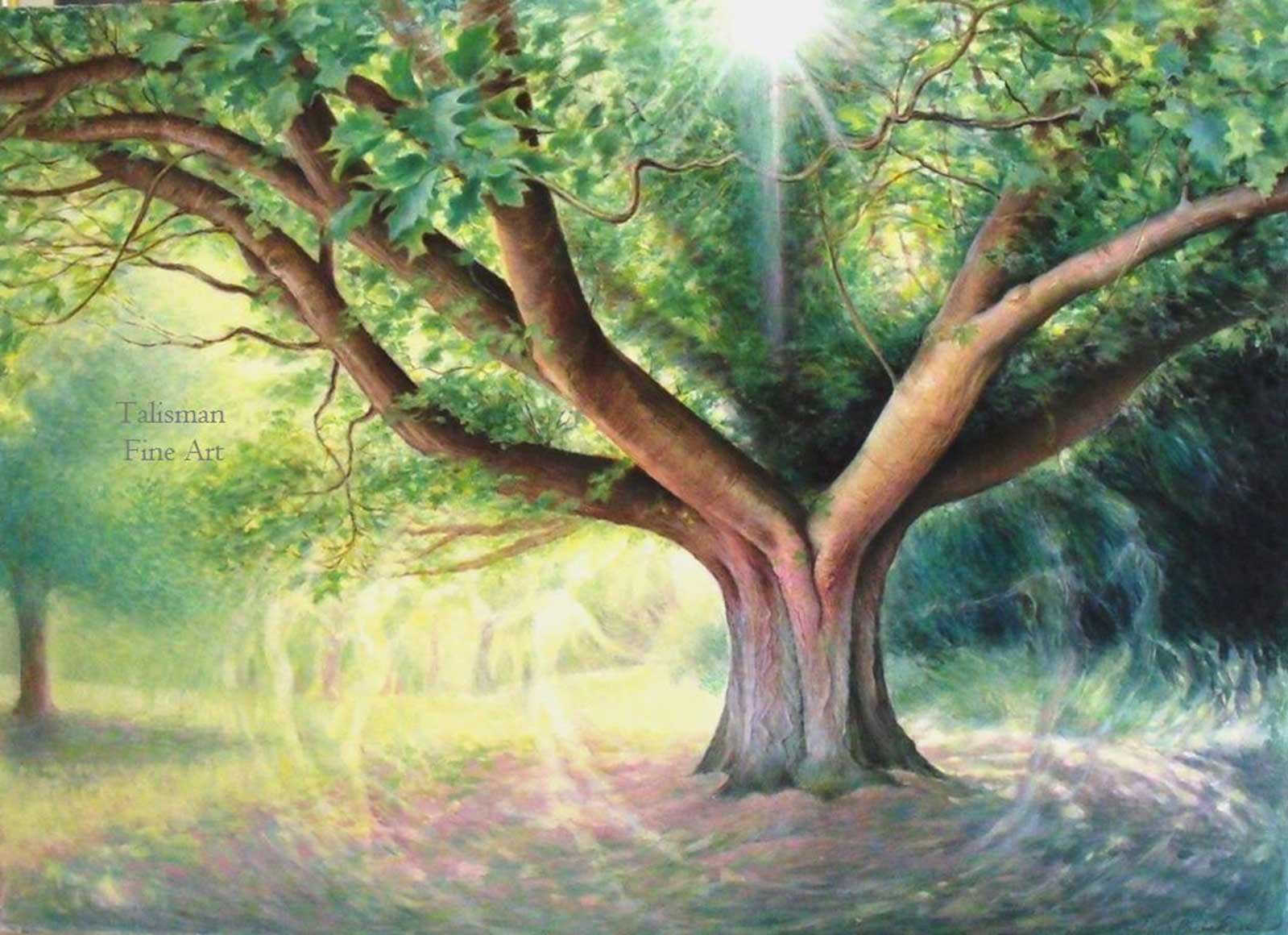 Talusman Fine Art Lynn Paula Russell - Tree Spirits (We have a large selection of Lynn Paula Russell works)