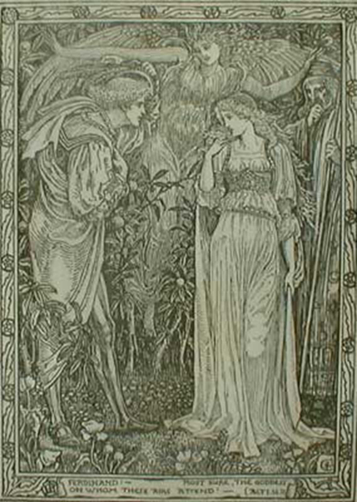 Talusman Fine Art Walter Crane (after) - 'Eight Illustrations to William Shakespeare's Tempest'  (Sold)