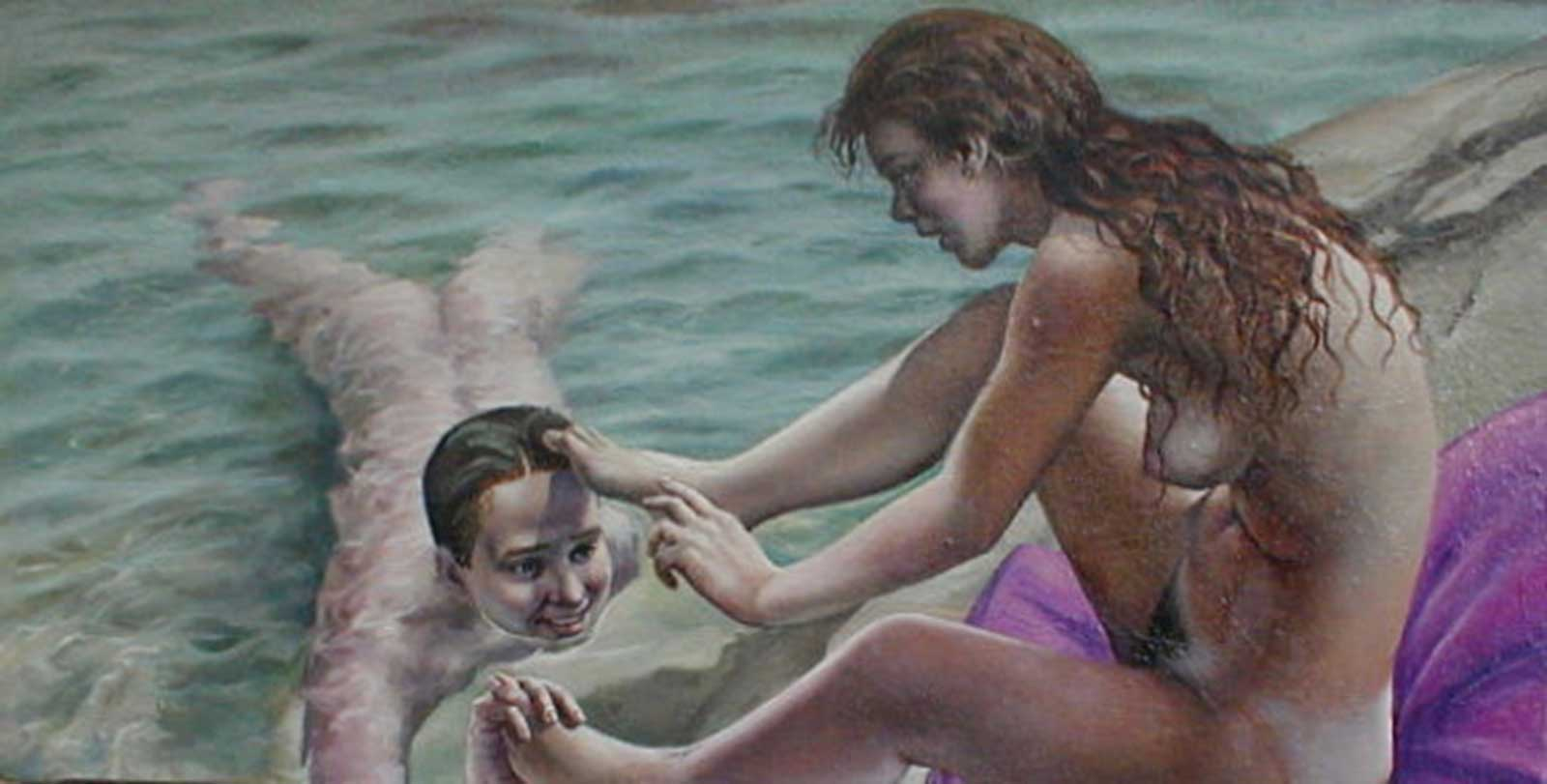 Talusman Fine Art Anthony Tewfik - 'The Swimmers'