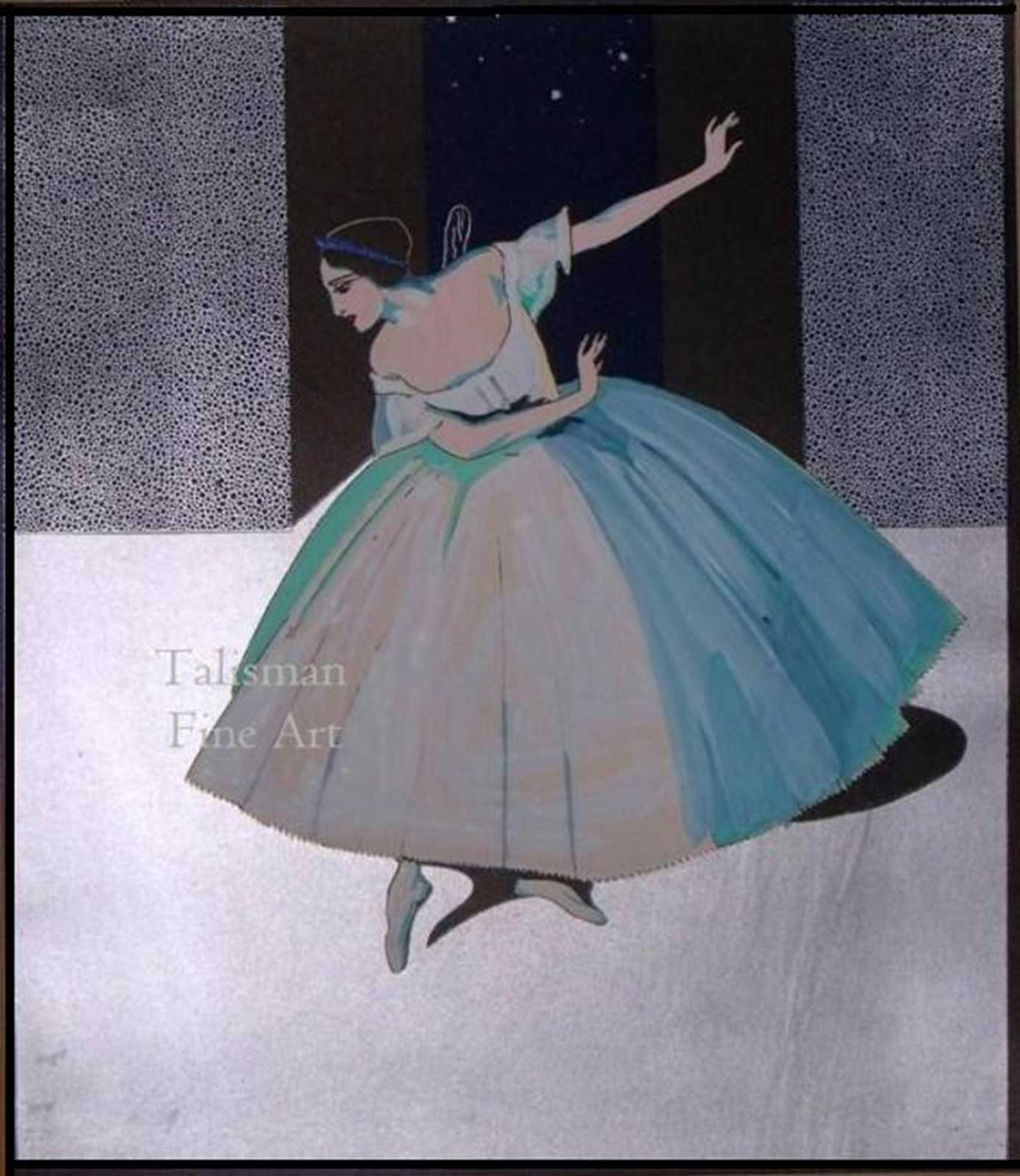 Talusman Fine Art Vera Willoughby - Lubov Tchernicheva dancing Les Sylphides (We have more works by Willoughby) Sold