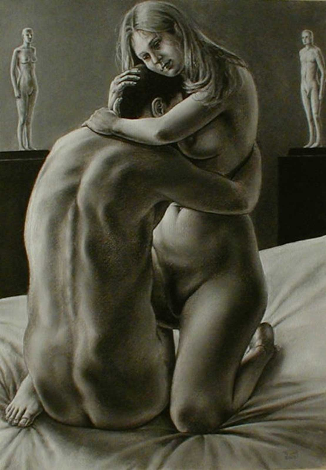 Talusman Fine Art Anthony Tewfik - 'The Lovers'